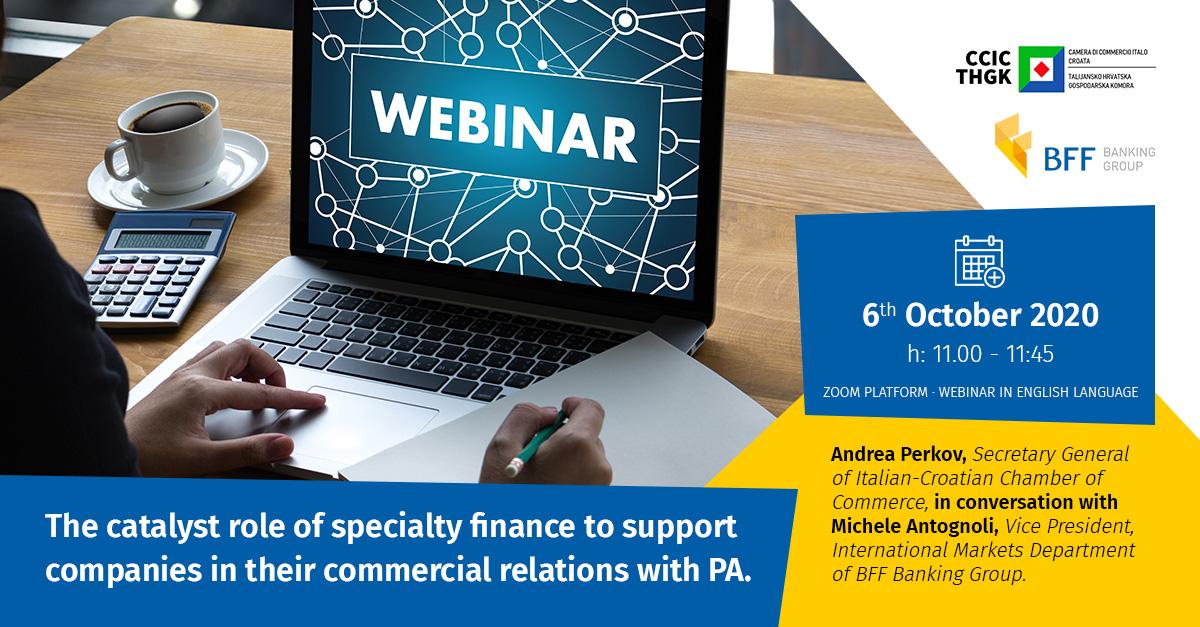 Webinar CCIC in collaborazione con BFF banking group